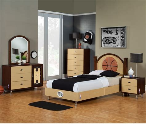 Basketball Bedroom by Dreamfurniture Nba Basketball San Antonio Spurs