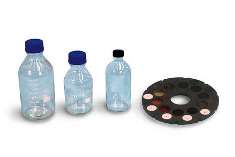 Lovibond Standard Colour Chart Organic Impurities Test graduated impurities test bottles matest