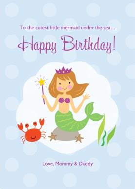 mermaid birthday card template printable mermaid birthday card template