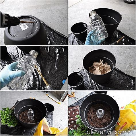 diy self watering planter diy self watering planter cleverly inspired