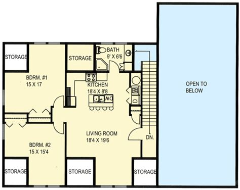 plan 35489gh rv garage with apartment above rv garage