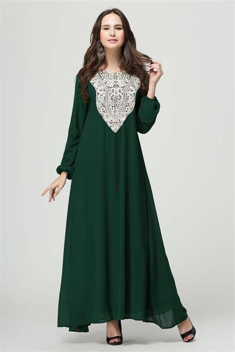 Baju Dress Klp Maxi Indiana muslim kimono abay chiffon color muslim dress