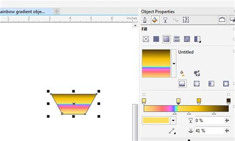 corel draw x7 gradient fill gradient colors change to what is not there coreldraw
