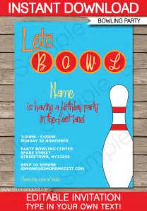 bowling invitations template birthday