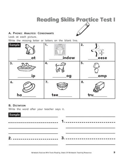 reading comprehension test grade 1 reading comprehension practice test 2nd grade third