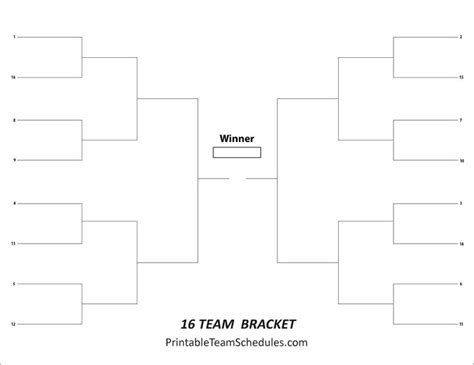 16 team bracket template 8 best images about tournament brackets free printable