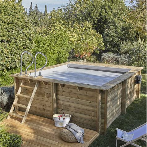 terrassenüberdachung 5 x 4 m piscine hors sol bois urbaine l 3 5 x l 4 2 x h 1 33 m
