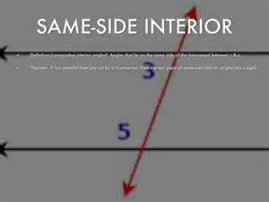 Same Side Interior Angles by Angles By Destiny Pryor