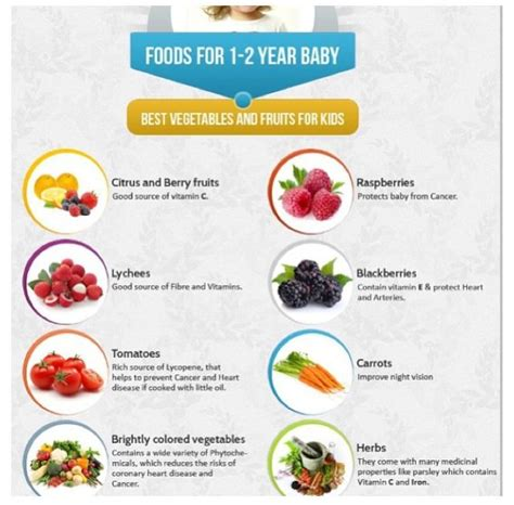 1 Year Baby Food - healthy food for a one year baby food