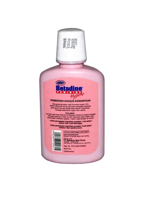 Betadine Botol betadine feminine pembersih kwanitaan hygiene btl 60ml