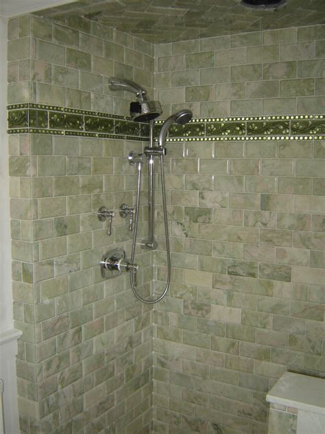 subway tile in bathroom shower marble subway tile shower bathroom traditional with glass