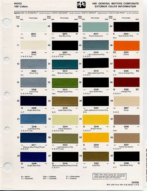 gm auto color chips color chips paint codes gm