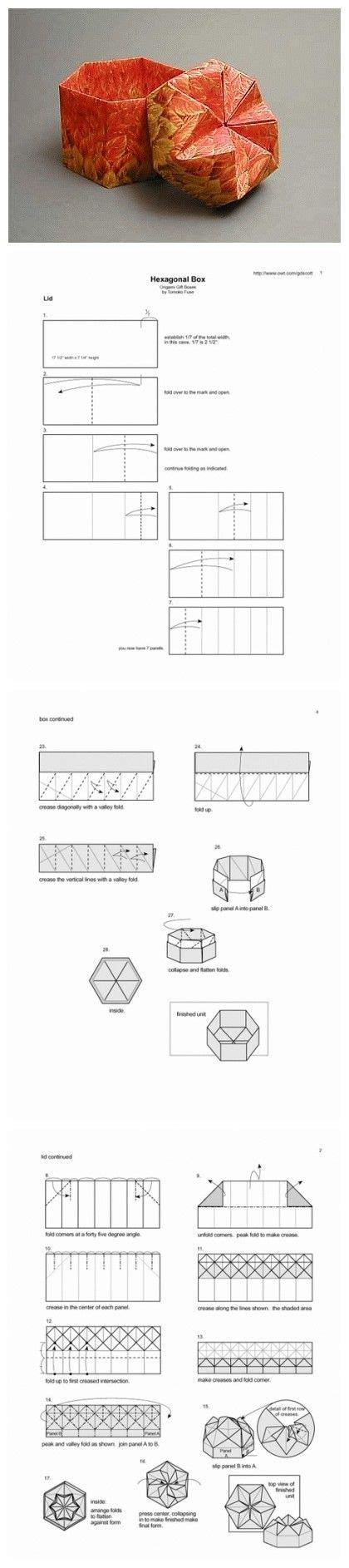 Hexagonal Box Origami - origami hexagonal box folding origami