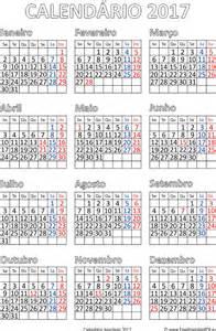 Calendario 2018 Brasil Feriados Calend 225 2017 Brasil Pdf Para Impress 227 O Livre