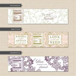 personalized water bottle label template belletristics stationery design and inspiration for the