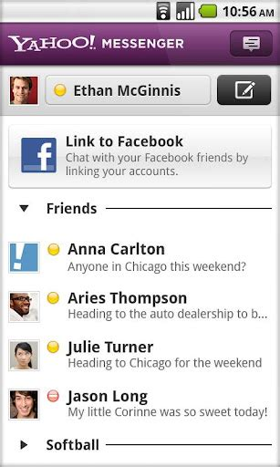 yahoo messenger in for android update my androidyahoo messenger android gets updated