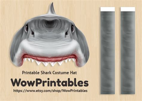 How To Make A Paper Shark Hat - shark costume hat printable easy to make black