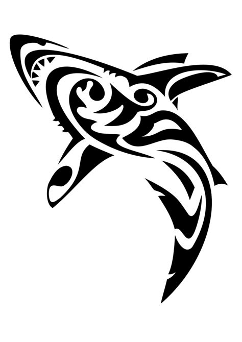 great white shark tribal tattoo tribal great white shark www imgkid the