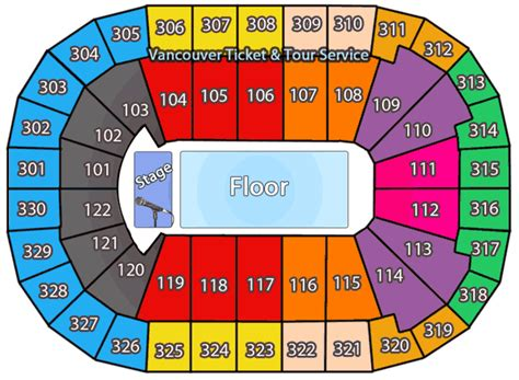 rogers arena floor seating plan canucks seating chart