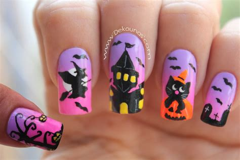 imagenes de uñas acrilicas para halloween decoraci 243 n de u 241 as halloween halloween nail art youtube