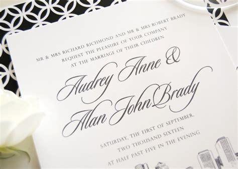 Boston Skyline Wedding Invitations