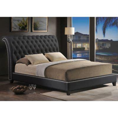 tufted headboard platform bed baxton studio jazmin tufted platform bed with headboard bed bath beyond