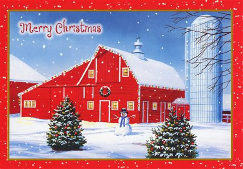 red barn  silo  farm box   christmas cards  red farm studios