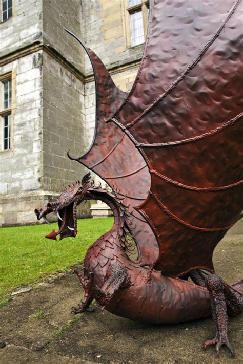 hand crafted dragon sculptures