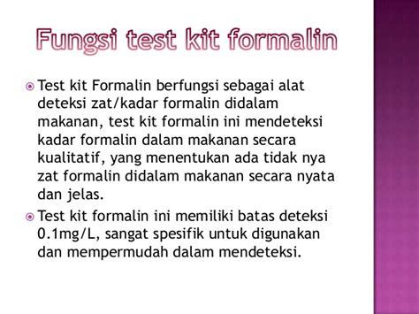 Alat Test Formalin alat uji formalin pada makanan