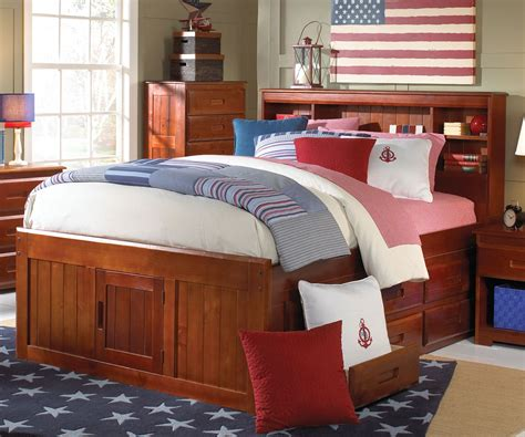full size captain bed discovery world furniture merlot full size bookcase
