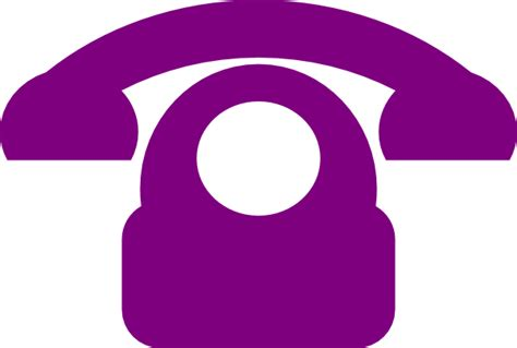 phone icon purple phone icon clip art at clker com vector clip art