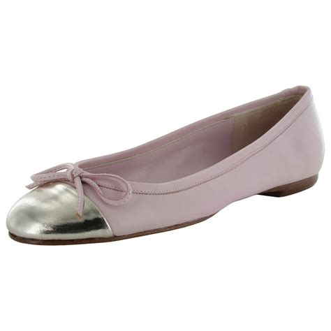 womens flat leather shoes delman womens brook leather ballet flat shoe ebay
