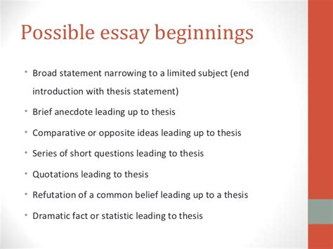 how to do a thesis how to write exposition
