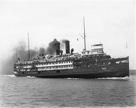 boat sinking by miller ferry the palace steamers of the great lakes trips into history
