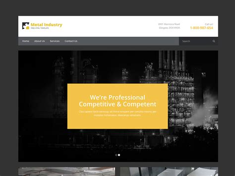 Metallix Free Industrial Construction Company Bootstrap Html5 Template Free Construction Website Templates Bootstrap