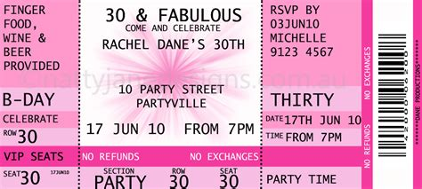 ticket invite template free printable ticket templates search results