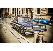 Old Police Car Wall Street  New York City USA View