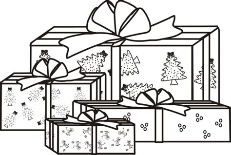 coloring pages of christmas presents christmas tree with presents coloring pages color bros