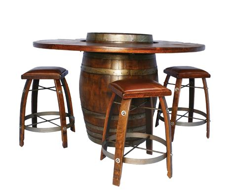 Wine barrel bistro table bar stool set 2 day designs winecountryaccents com