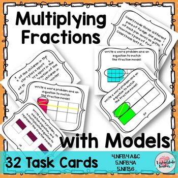 multiplying fractions using cards template multiplying fractions fractions word problems