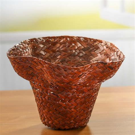brown wicker basket planter new items