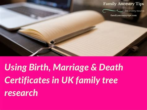 Free Birth Marriage Records Understanding Birth Marriage Certificates In Uk Family Tree