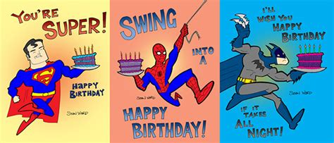 printable birthday cards superhero superhero birthday cards on behance