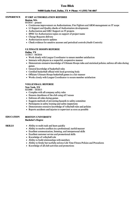 Referee In Resume by Referee Resume Resume Ideas