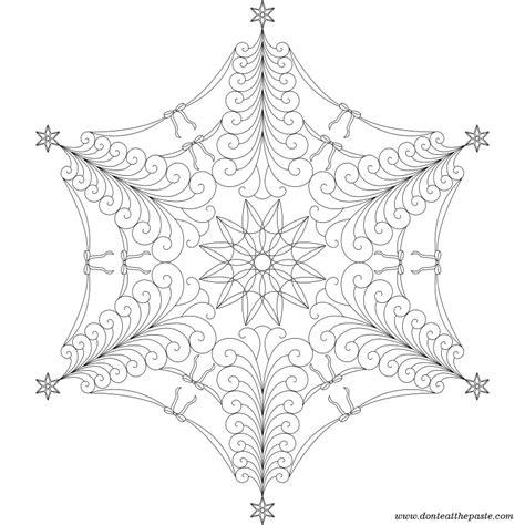 snowflake mandala coloring pages don t eat the paste tree flake mandala