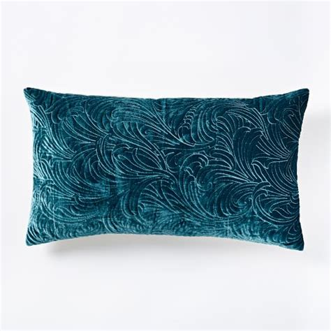 Embroidered Pillows by Luxe Embroidered Pillow Cover Blue Teal West Elm