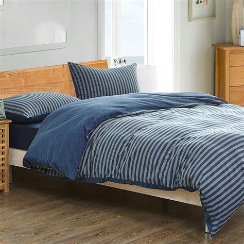 high quality bed sheets chausub brief stripe bedding set 4pc high quality long
