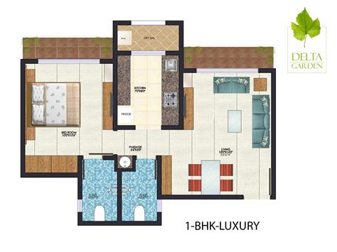 1bhk floor plan property in dahisar flats in dahisar delta garden