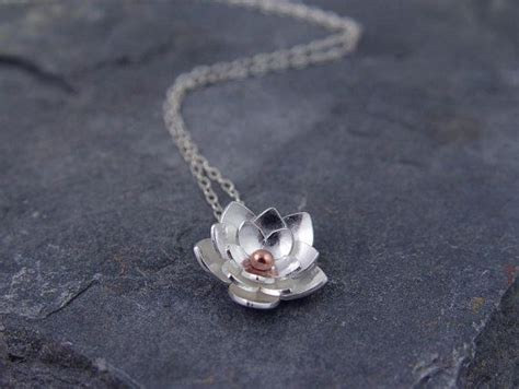 Liontin Silver Lotus Flower Pendant silver lotus necklace pendant sterling silver and
