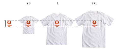 design t shirt size how your t shirt design will look on different sized